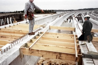 Framing bridge deck with BORG Hangers