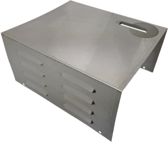 Stamped steel louver unit